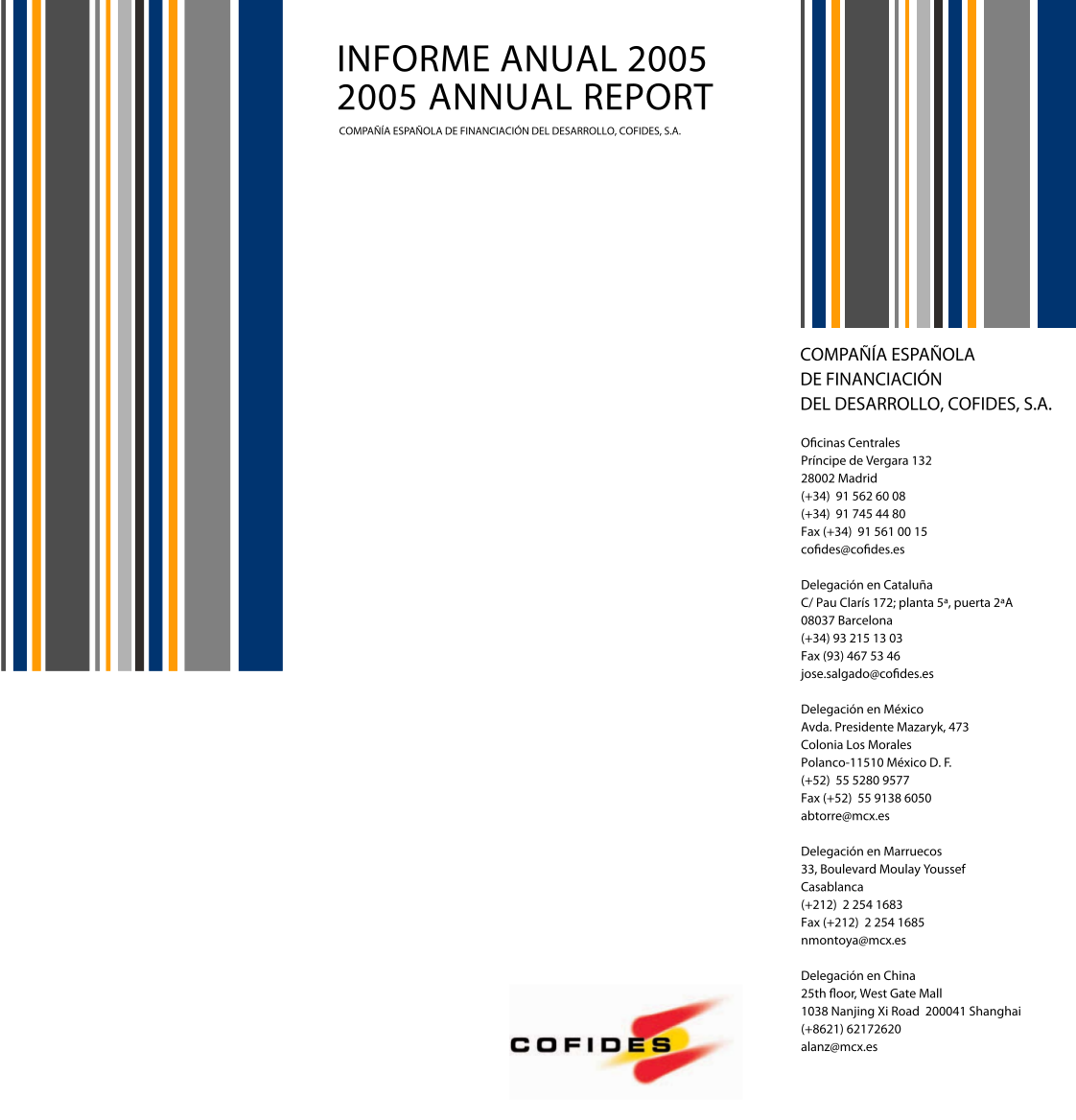 Front Cover of the 2005 COFIDES Annual Report