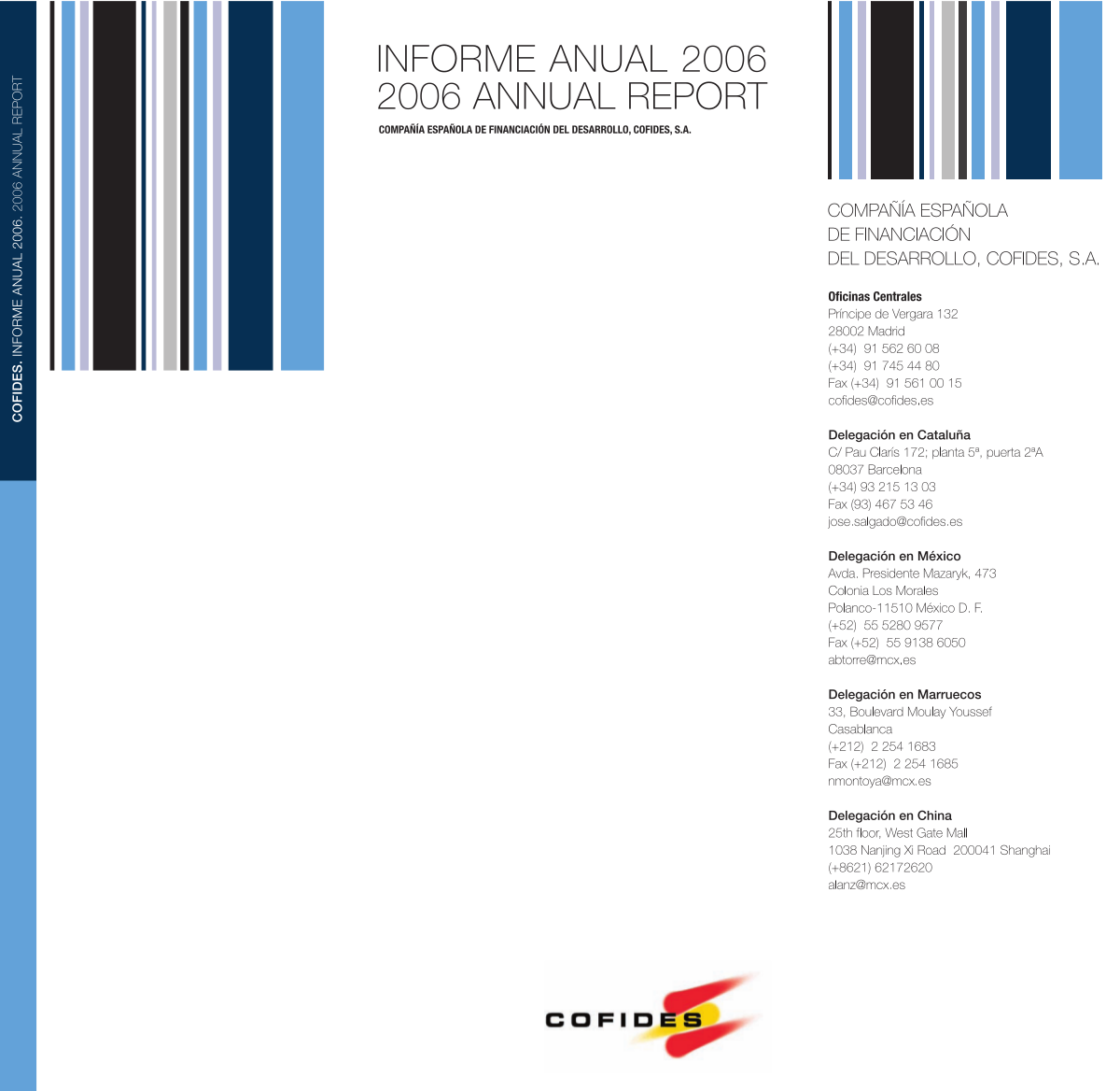 Front Cover of the 2006 COFIDES Annual Report
