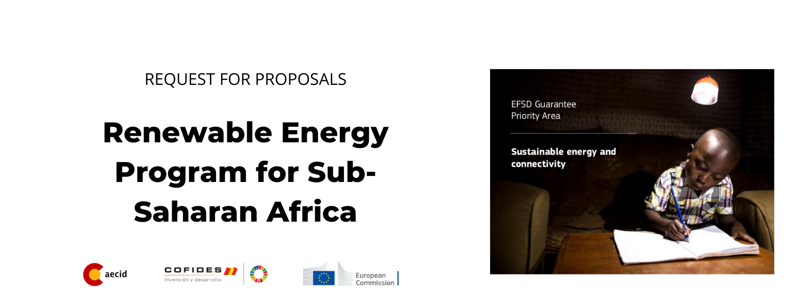 Imagen de la RFP - Renewable Energy Program for Sub-Saharan Africa