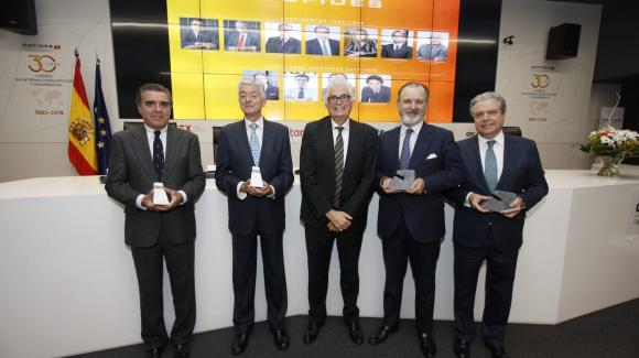 Image of COFIDES' former presidents during the company's 30th Anniversary